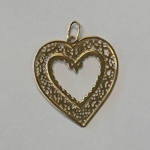 Jewelry - 14k Yellow Gold Heart Charm / Pendant